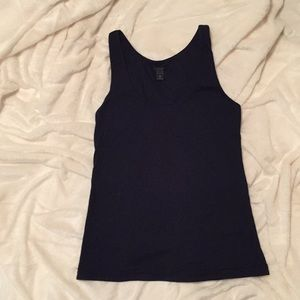 J. Crew navy blue cotton tank top